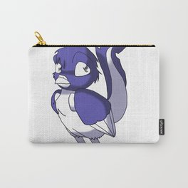 Indigo/Color-Or-Paint-Your-Own Reptilian Bird #ArtofGaneneK #Animal Carry-All Pouch