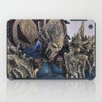 spawn iPad Cases featuring blue Spawn by Sofia Mansilla