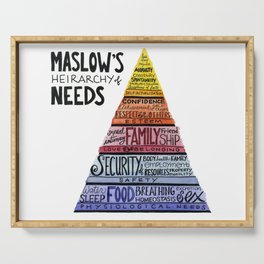Maslow's Hierarchy of Needs Serving Tray