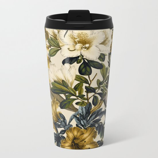 Warm Winter Garden Metal Travel Mug