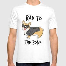 Bad to the Bone Corgi T-shirt