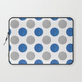 Blue Gray Dots Pattern Laptop Sleeve