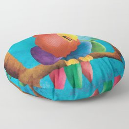 Macaw-ly Culkin - Not Home Alone - Nursery Art Floor Pillow