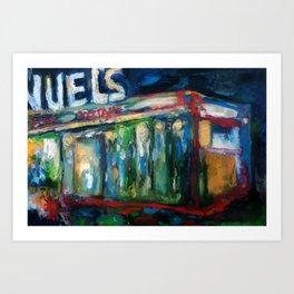 The Gaslight Lounge, Oil On Canvas Art Print