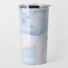 polar bears in the snow Travel Mug