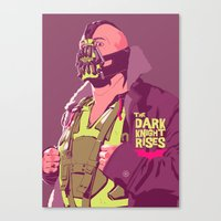 bane Canvas Prints featuring BANE by Mike Wrobel