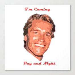 Coming Day and Night Canvas Print