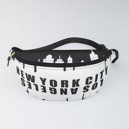 New York City / Los Angeles Skyline Fanny Pack