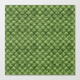 Quilted Bright Leaf Green Velvety Pattern Canvas Print