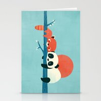 pandas Stationery Cards featuring Pandas by Jay Fleck