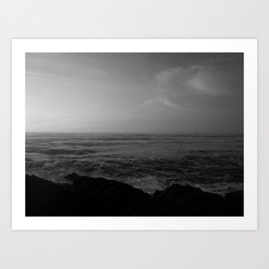 Fading Light, Rising Sea Art Print