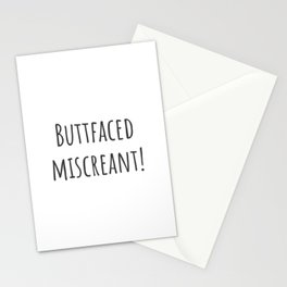 Buttfaced Miscreant Stationery Cards