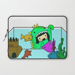 Rawr went Monstafishing... muh muh muh MONSTA FISH! Laptop Sleeve