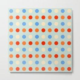 Lohiau - Colorful Abstract Dots Art Metal Print