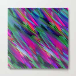 Colorful digital art splashing G400 Metal Print
