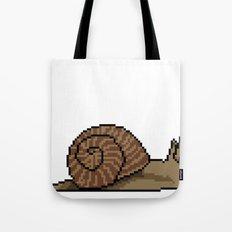 Pixel Snail Tote Bag