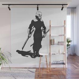 Ninja  skeleton  illustration Wall Mural
