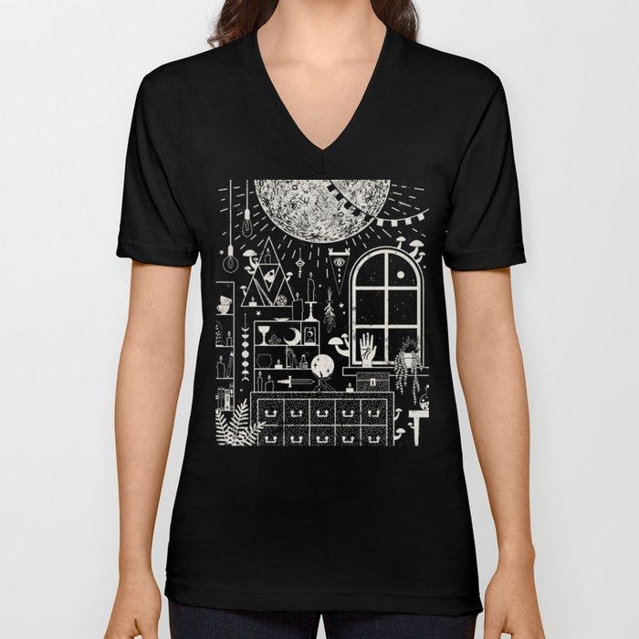 Moon Altar Unisex V-Neck