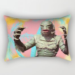 Creature of the pastel lagoon Rectangular Pillow