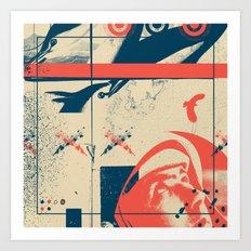Fragments Tile 3/12 Art Print