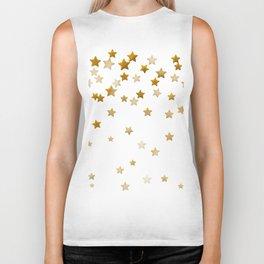 Falling Stars - Gold Marble Biker Tank