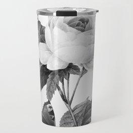 Vintage roses in grayscale version Travel Mug