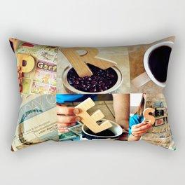 """Woodblock Series, """"Process"""" Rectangular Pillow"""