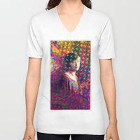 sparkles V-neck T-shirts featuring Wave Sparkles by pocketsoup