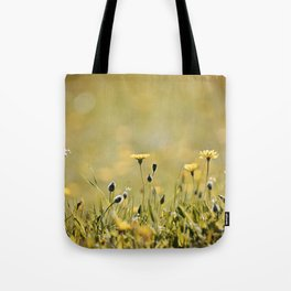 Yellow Wildflowers in the Sun Tote Bag