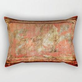 Red Panel Rectangular Pillow