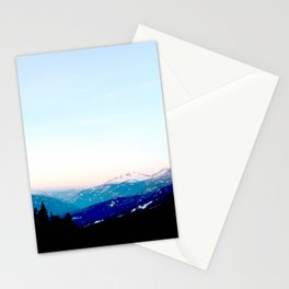 Mountain views abstracted to color blocks Stationery Cards