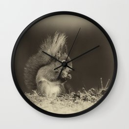 Red Squirrel Wall Clock