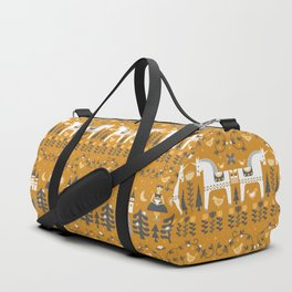 Yellow + Gray Fairy Tale Duffle Bag