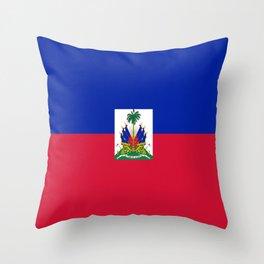 flag of haïti Throw Pillow