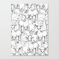 woodland Canvas Prints featuring Woodland by Lydia Meiying