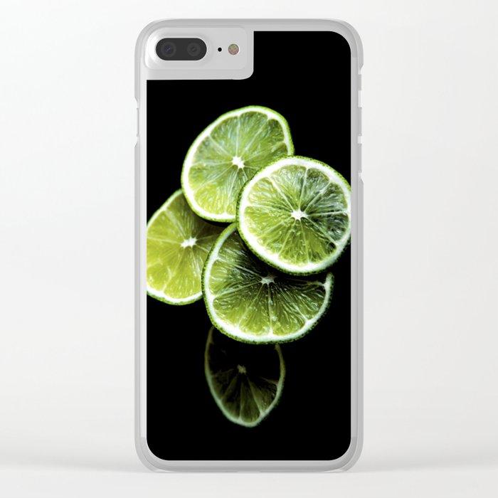 lemon lima Clear iPhone Case
