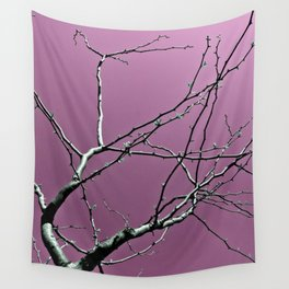 Reaching Violet Wall Tapestry