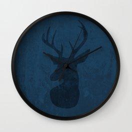 Blue Deer Design Wall Clock
