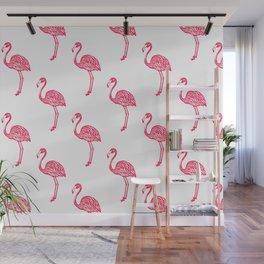 American Flamingo (pink) Wall Mural