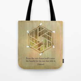 Forest & Axe — Illustrated Quote Tote Bag