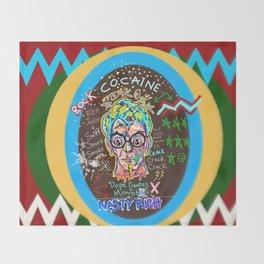 Rock Cocaine Crack Games Remixed Throw Blanket