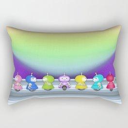 9 robots Rectangular Pillow
