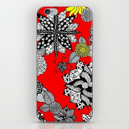 Pattern in Red  iPhone Skin