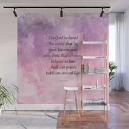 John 3:16, For God So Loved the World Scripture Wall Mural