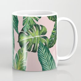 Jungle Leaves, Banana, Monstera II Pink #society6 Coffee Mug