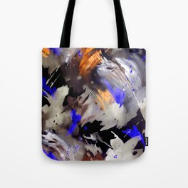 Abstract Watercolor Dark Tote Bag