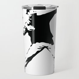 Banksy Flower Thrower Travel Mug