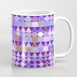 Modern Tribal Geometric, Amethyst Purple and Taupe Coffee Mug