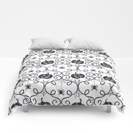 happy hallowen curves and pumkins pattern Comforters