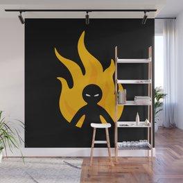 Flaming Anger Wall Mural